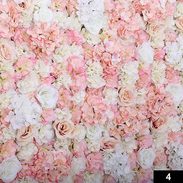 DIY Artificial Cloth Rose Flower Wall Decoration Party Wedding Decoration  Backdrop Creative Hotel Background Wall Decor