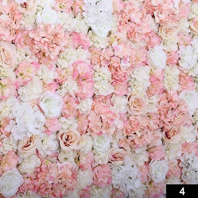 Diy Kunstliche Tuch Rose Blume Wand Dekoration Party Hochzeit