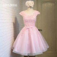 Pink Short Homecoming Dresses 8th Grade Prom Dresses Junior High Cute Graduation Formal Dresses Mezuniyet Elbiseleri
