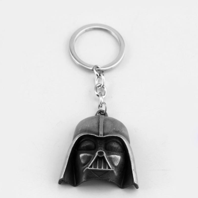 MQCHUN Star Wars Darth Vader Mask Keychain 3D Warrior Solider Head Keyring Key Chain For Movie Fans Key Ring Key Holder Gifts