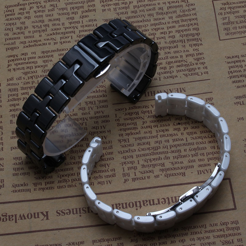 ФОТО 16mm watchband high quality Ceramic Never fade Watch accessories for diamond Watches womens bracelet polished bright fashion new