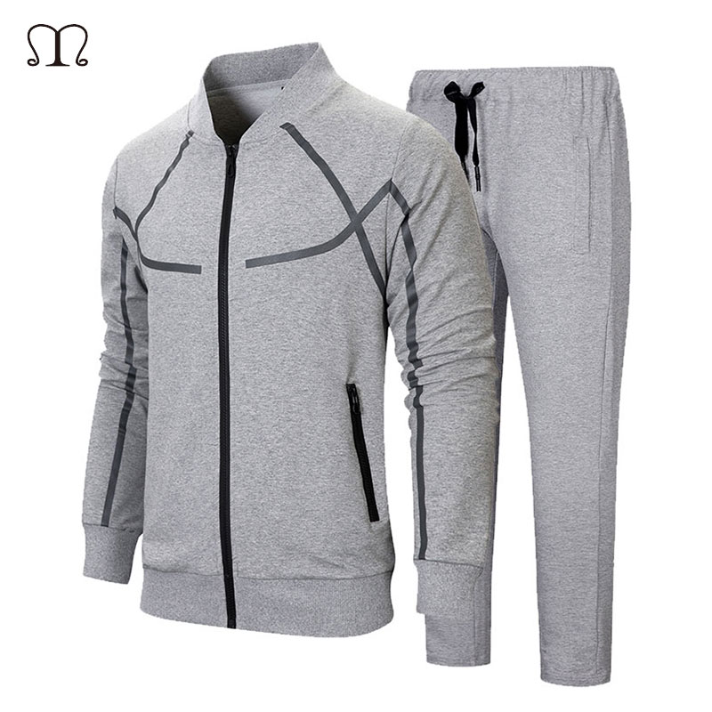 Tracksuits Men Sportswear Long Sleeve Survetement Homme 2 Piece Sets Mens Sweatshirts Jacket + Pants Male Brand Fitness Clothing