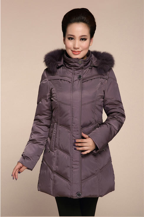 2013 New Fashion Faur Fur Collar Down Jacket Outerwear Middle-Aged Mother Lady Plus Size Thick Winter Warm Coat L-5Xl H1306