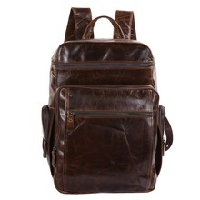 Maxdo Large Capacity Vintage Genuine Leather Women / Men Backpacks Cowhide Men Travel Bags #M7202