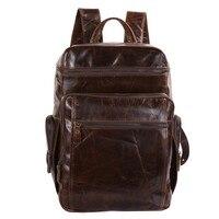 Nesitu большой Ёмкость Винтаж Пояса из натуральной кожи Для женщин/Для мужчин Рюкзаки коровьей Для мужчин Дорожные сумки # m7202