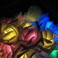 Siempre Se Levantó de Ahorro de Energía Solar LED Luces de la Secuencia 20 Leds 4.8 M Festival Fiesta de Navidad Año Nuevo Decoración de Jardín Al Aire Libre lámpara