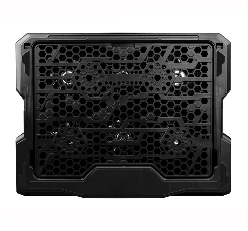 Image 5 - Laptop Cooler With 2 USB Ports And 6 Cooling Fans Silent Laptop Cooling Pad Notebook Stand For 12 16 inch fixture For Laptop-in Laptop Cooling Pads from Computer & Office