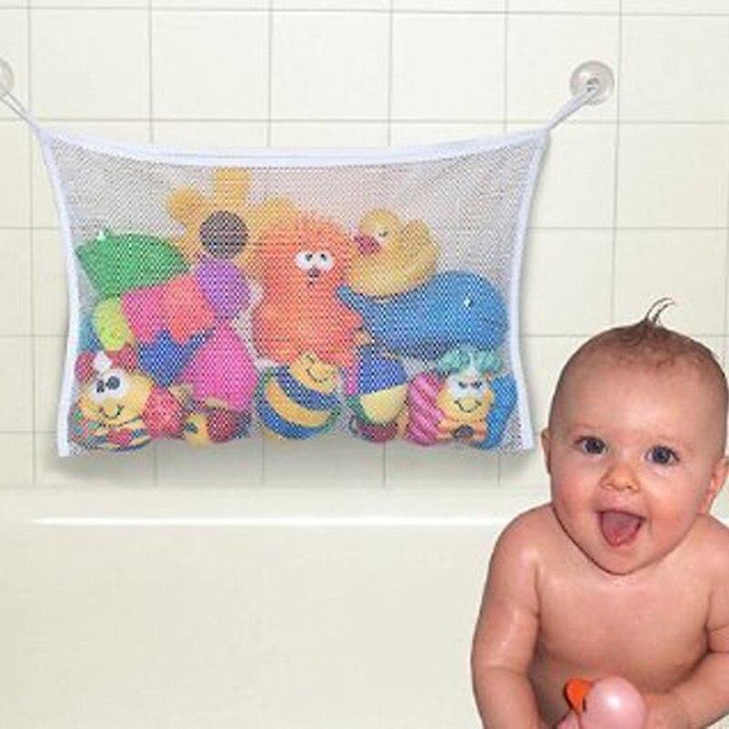 Bathroom Baby Toy Organizer With Suction Net  Bath Baby Kid Storage Organizer Toy Hanging Organizer
