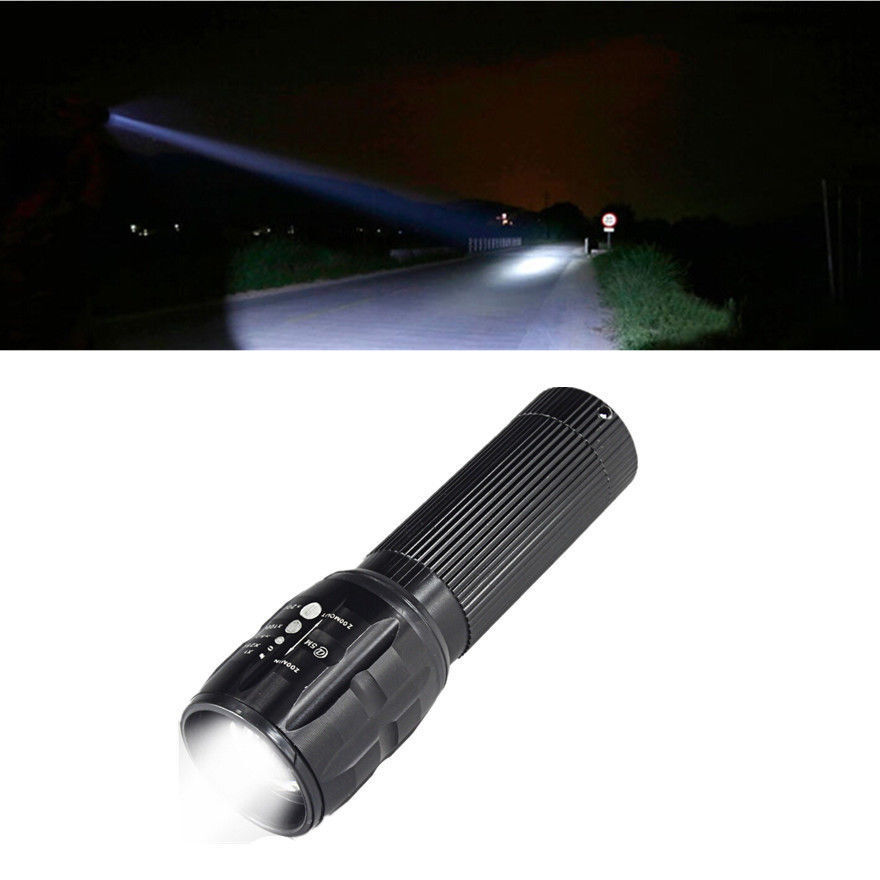 SXZM 3W Portable LED mini Flashlight Penlight 200LM Waterproof Torch 3 Modes Zoomable AAA Battery Adjustable Focus Lantern Light Pakistan