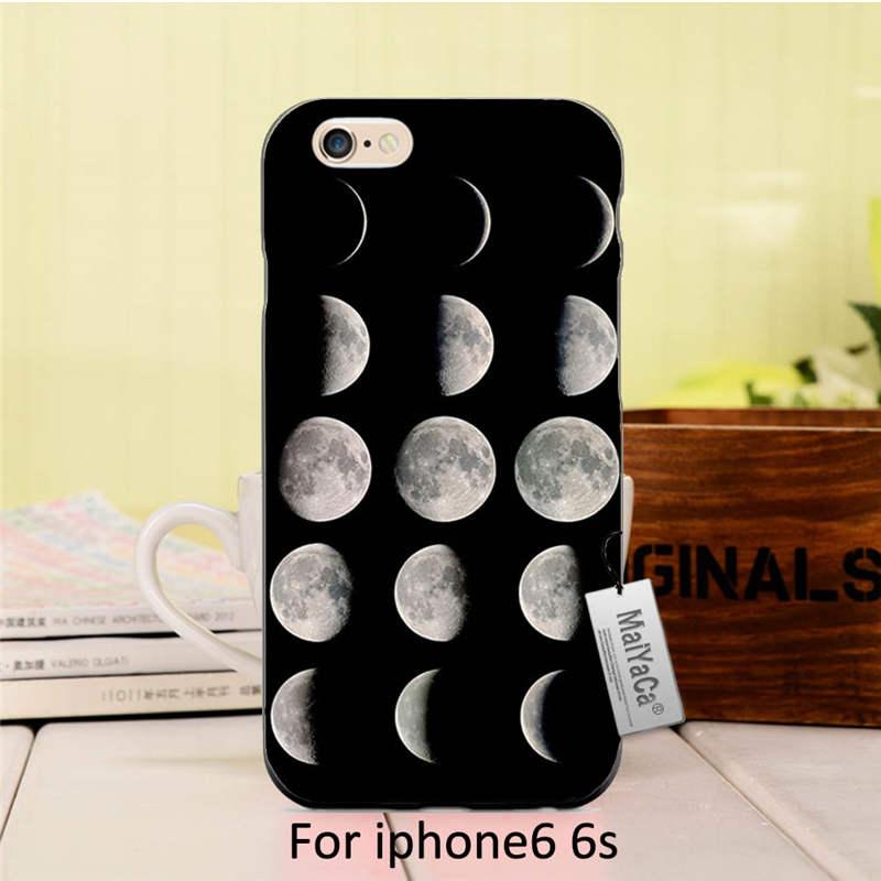 Tumblr luna alta calidad negro accesorios para teléfonos iphone 6 6s ccase