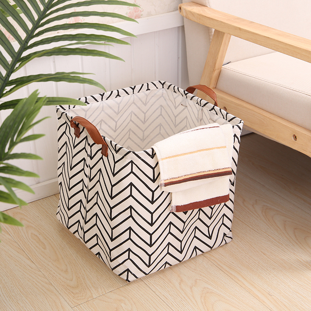 Cube Folding Basket For Kids - Toy Storage Box