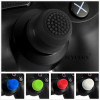 IVYUEEN 2 pcs Silicone Analog Grip Thumbstick Thumb Sticks Extra Cover High Enhancements For Dualshock 4 PS4 Pro Slim Controller 3