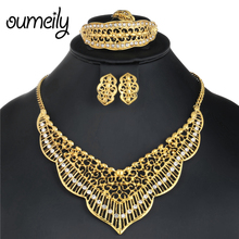 OUMEIL Big Women Wedding Jewelry Sets for Brides Luxury Jewe