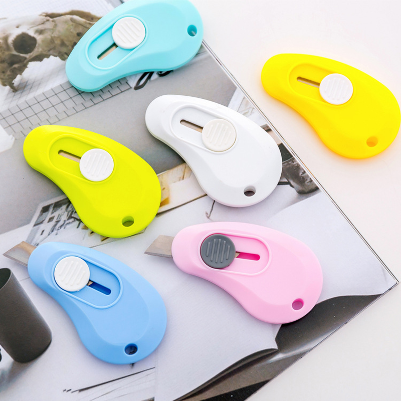 1PCS Creative Confectionery Color Mini Portable Small Utility Knife Express Box Opener Knife Office Cutter Stationery