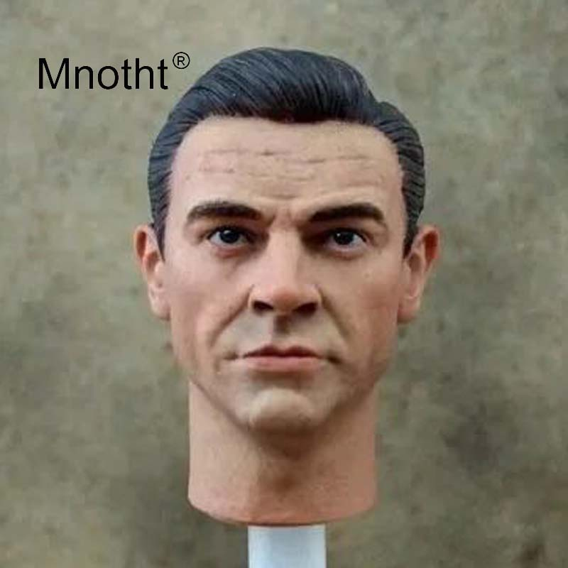 Mnotht Old Edition James Bond Sean Connery 1/6 Scale Male Head Sculpt Soldier Man Model for 12inch Action Figure Toy Collection full set china toy 1 6 zh007 greece heavy armor infantry 12 male soldier figure model toy for collection