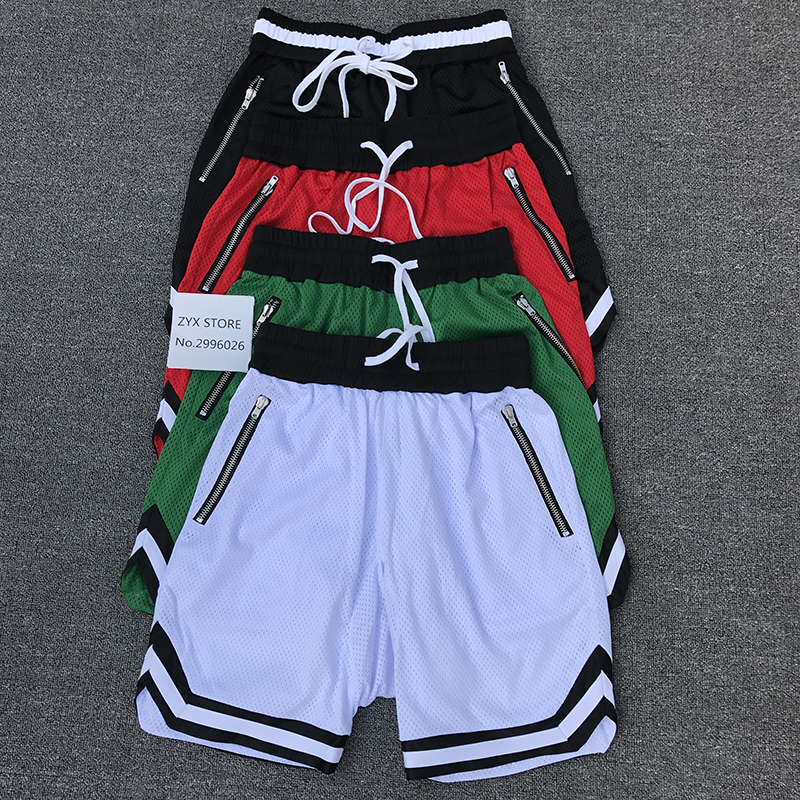 2017 Summer New Style Shorts Men Women Fear Of God Shorts Hiphop Skateboard Mesh Ventilation FOG Shorts Trousers 4 Colours