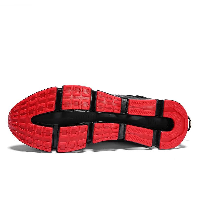 Hombres Transpirables Slip Ligero Caliente Zapatillas 2018 Casuales Mycolen on Zapatos blanco Negro De Los Negro Para Hombre Marca Populares Deporte rojo EP7xYx1qn