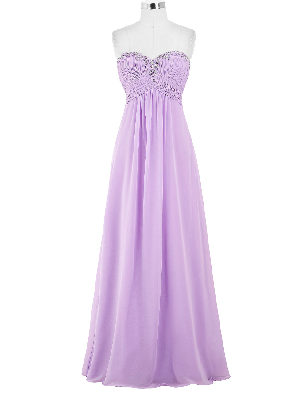Online get cheap light purple bridesmaid dresses for Light purple wedding dress