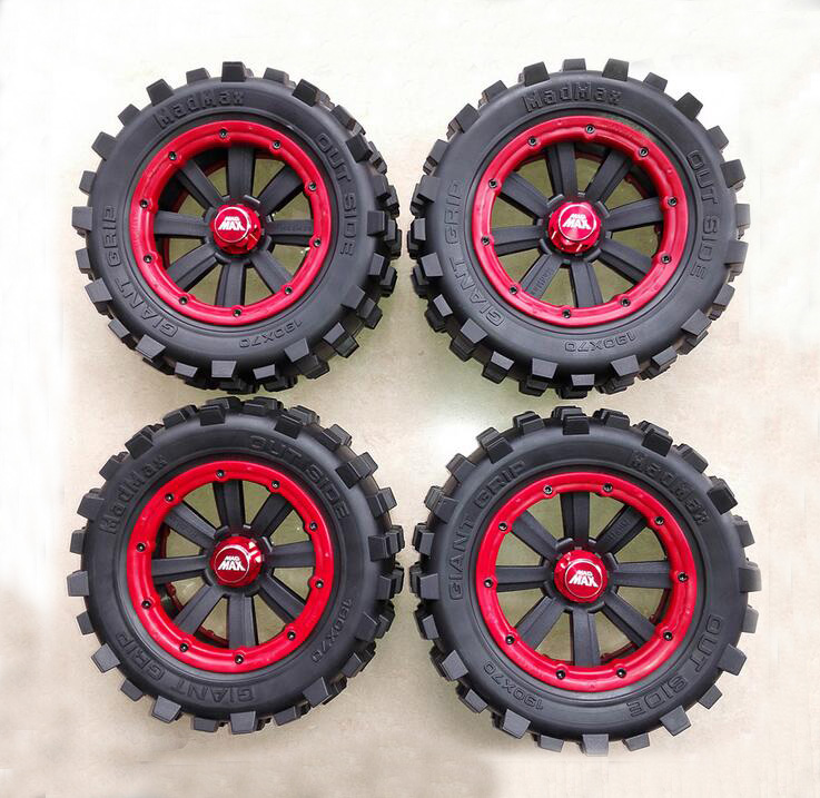 4pcs Tire to 1/5 TRAXXAS X-MAXX Wheels for TRAXXAS   X-MAXX RC Monster truck Model MADMAX High quality tyres upgrade   Rim 4pcs tire to 1 5 traxxas x maxx wheels for traxxas x maxx rc monster truck model madmax high quality tyres upgrade rim