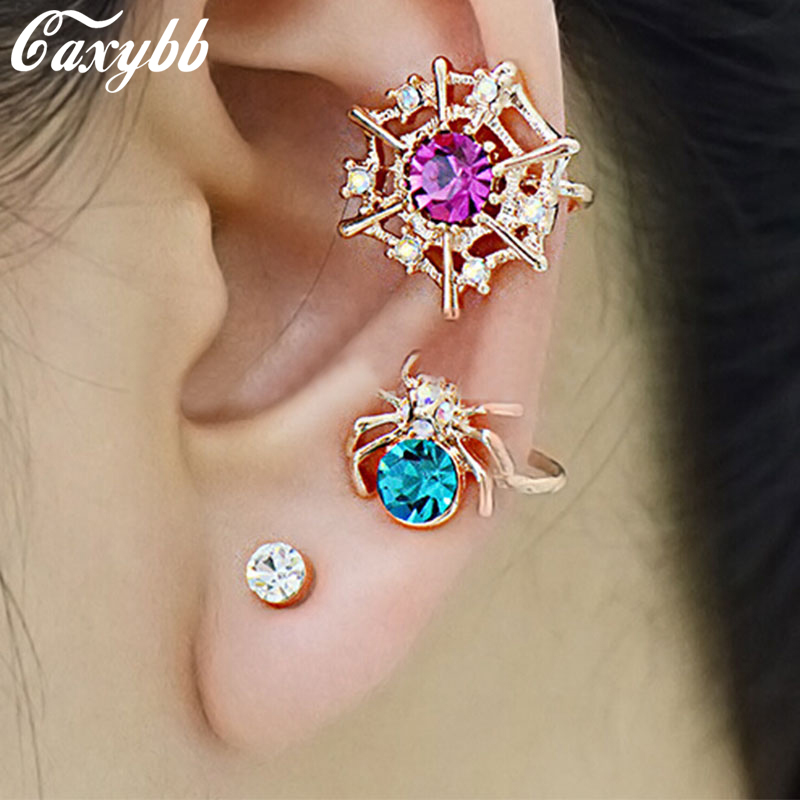 2017 Fashion Spider Web Ear Cuff Earring Design New Women Color Crystal Small Earrings Jewelry Ys C C9 In Clip From Accessories On