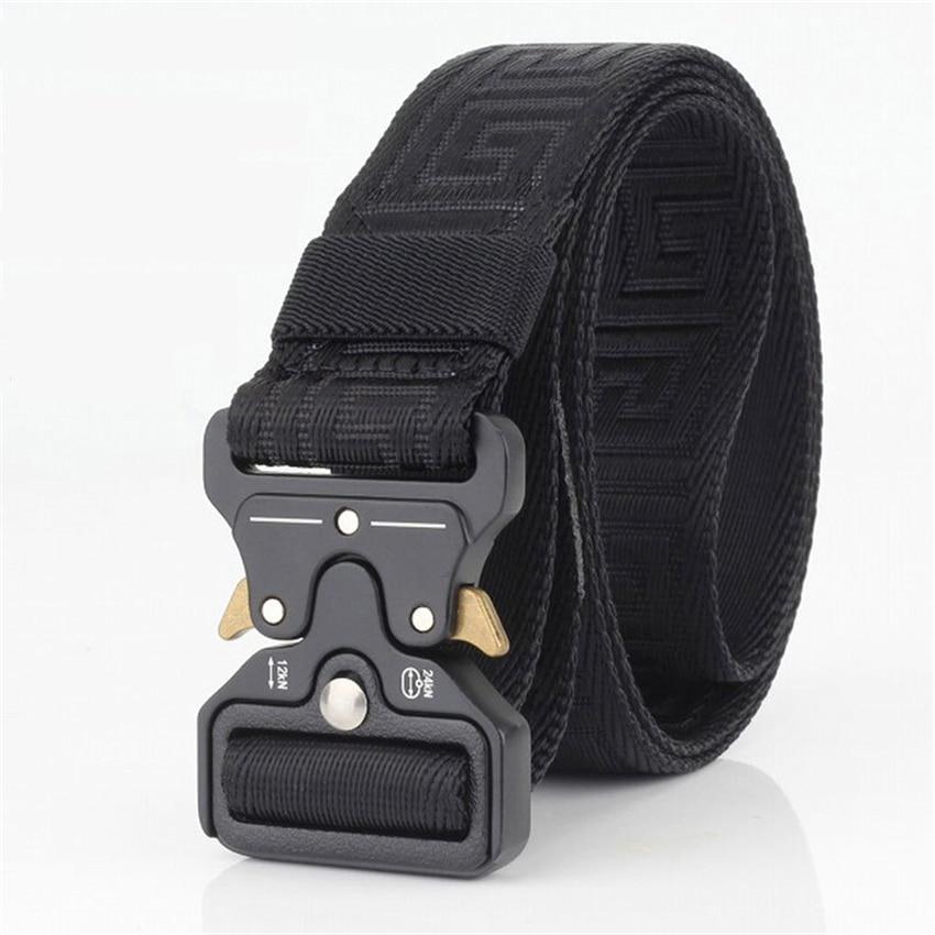 Military Equipment Army   Belt   Men Combat Tactical Designer   Belts   For Jeans Pants Solid Casual Nylon Strap Canvas Waist   Belt