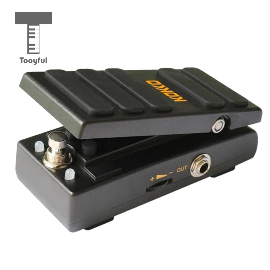 Tooyful Durable Aluminium 2in1 Guitar Foot Pedal Switch Wah Pedal Wah Volume Pedal KW-1 for Guitarist Stage Accessory kw 1 multi function guitar 2 in 1 mini volume wah pedal toy musical instrument