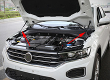 修理されたフロントフードエンジンカバー油圧ロッドストラットスプリングバーガスリフトvw T ROC 2017 2018 2019 2020
