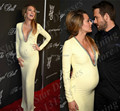 Gossip girl serena blake lively red carpet celebrity dresses 2017 yellow spandex evening dresses for pregnant women party gowns