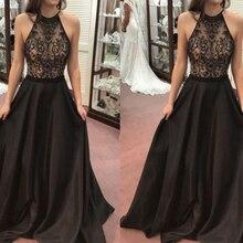 new sequin dress bohemian lace halter sleeveless autumn black long