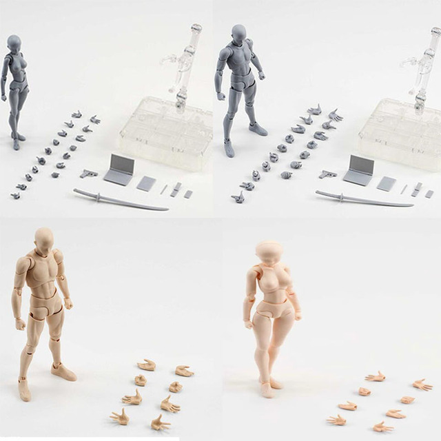 US $29 99 |15cm Body Chan Kun Pale Orange Gray Color Figma She He  SHFiguarts SHF prop knife PVC action Figure Collection model Toy-in Action  & Toy