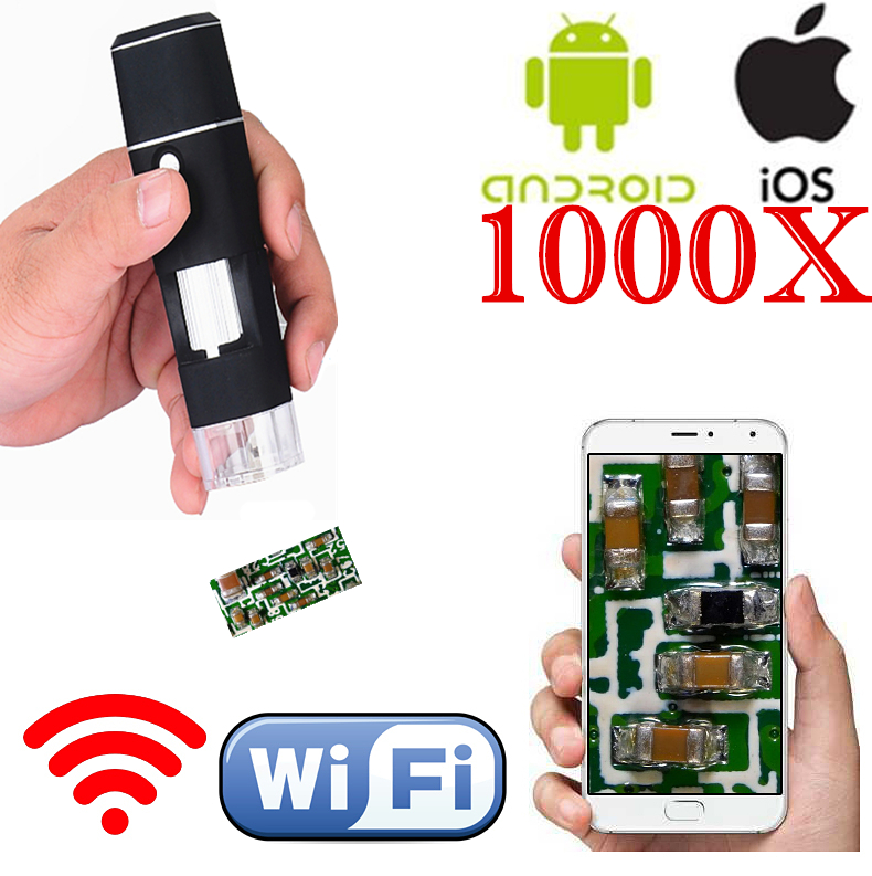 1000X Wireless Digital Microscope Magnifying Lens 50x 1000x wifi Magnifier WIFI Microscope For IOS Android
