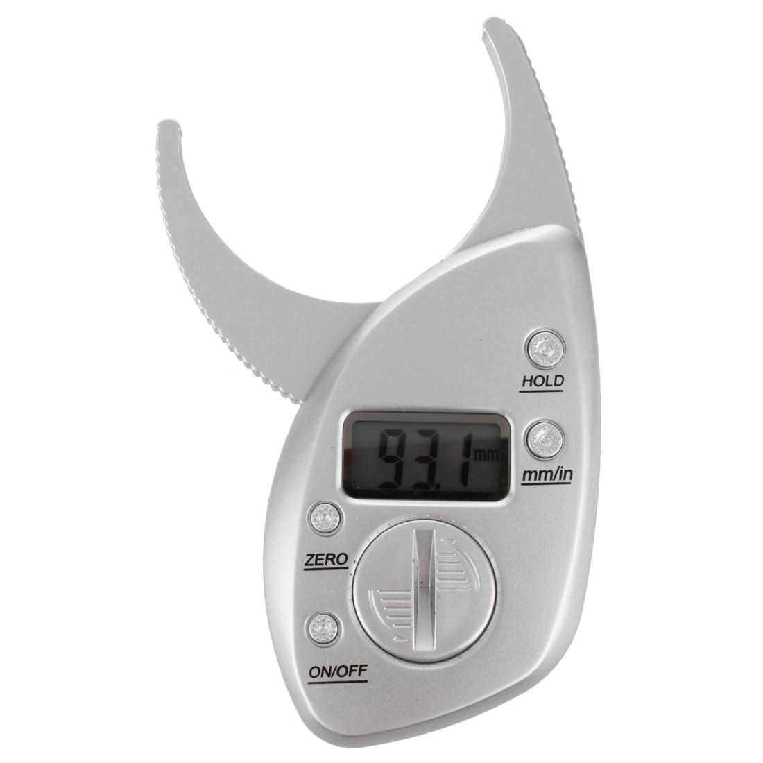 Digital LCD Body Fat Caliper Skin Fold Thickness Health Fitness Weight Gender