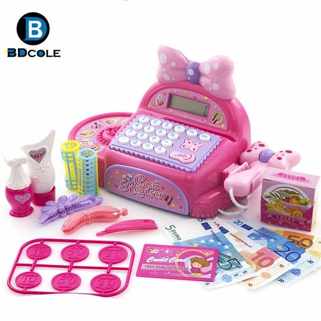 Bdcole rosa supermercado caja registradora de juguete - Caja registradora juguete ...
