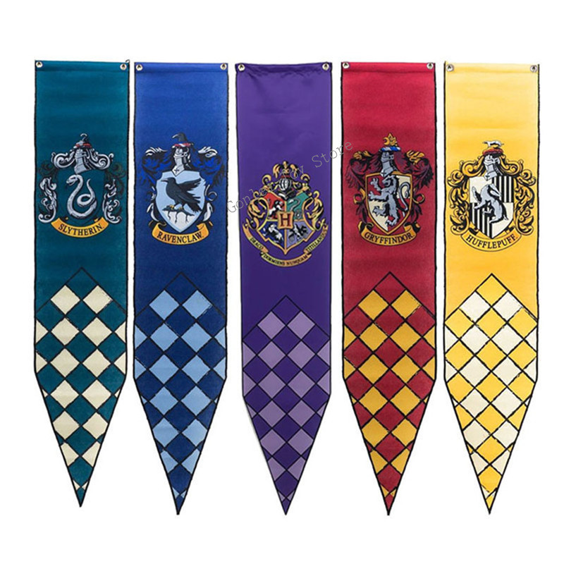 Toys & Hobbies New Harri Potter Banners Gryffindor Slytherin Hufflerpuff Ravenclaw College Flag Party Supplies Cosplay Toys Gift Action Figures