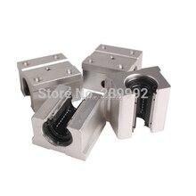 4 шт. SBR16UU SBR16 UU, опорный блок 16 мм, открытый линейный подшипник, скользящий блок, детали фрезерного станка с ЧПУ