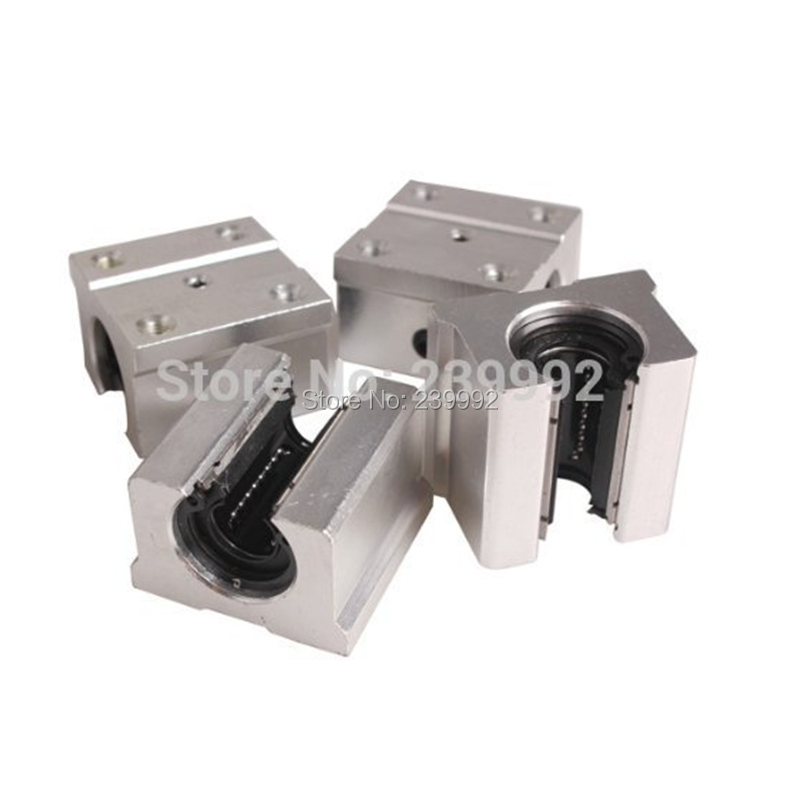 4 pcs SBR16UU SBR16 UU 16mm Linear Bearing Pillow Block 16mm Open Linear Bearing Slide Block CNC Router Parts-in Linear Guides from Home Improvement