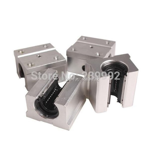 Bloc doreiller linéaire ouvert, 4 pièces SBR16UU SBR16 UU 16mm, bloc doreiller linéaire ouvert 16mm, CNC pièces de routeur