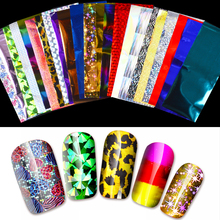 24 Sheets Nail Art Foils Laser Shinning Mixed Beauty Transfer Tips Sticker Craft DIY Universe Decorations