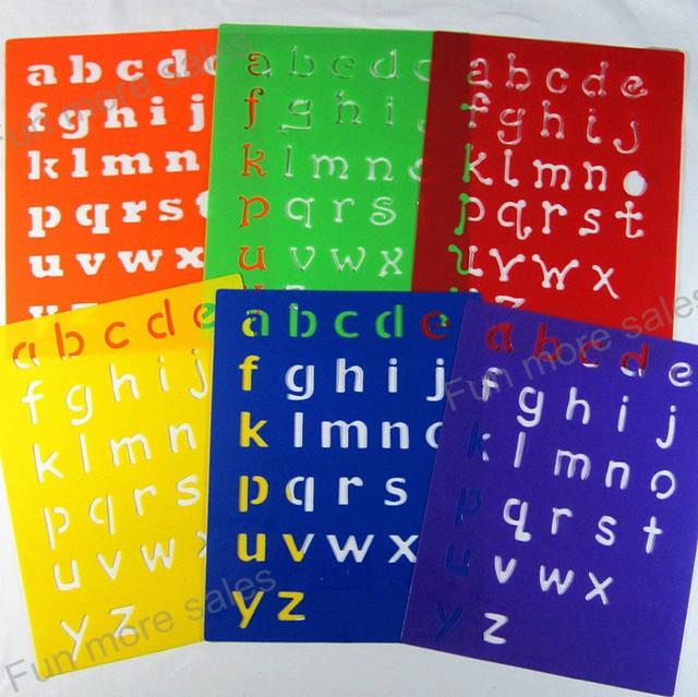 6designs stencils kids small alphabet letter drawing templates diy plastic letter stencils