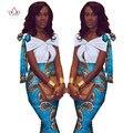 2017 Лето Африканских Dress For Women Dashiki Пинта Воск Лук Платья Базен Riche Африки Сексуальные Середины Икры Dress Плюс размер WY1423