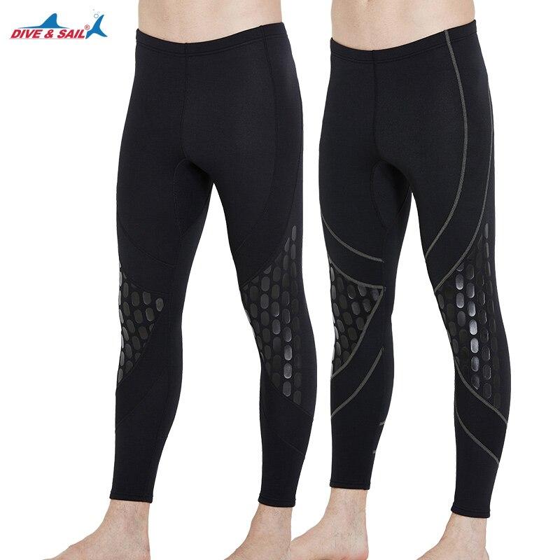 DIVE SAIL Warm 1 5MM Neoprene Long Swimming Pants Diving Wetsuit Men Bodysuits Surf Snorkeling Wetsuits