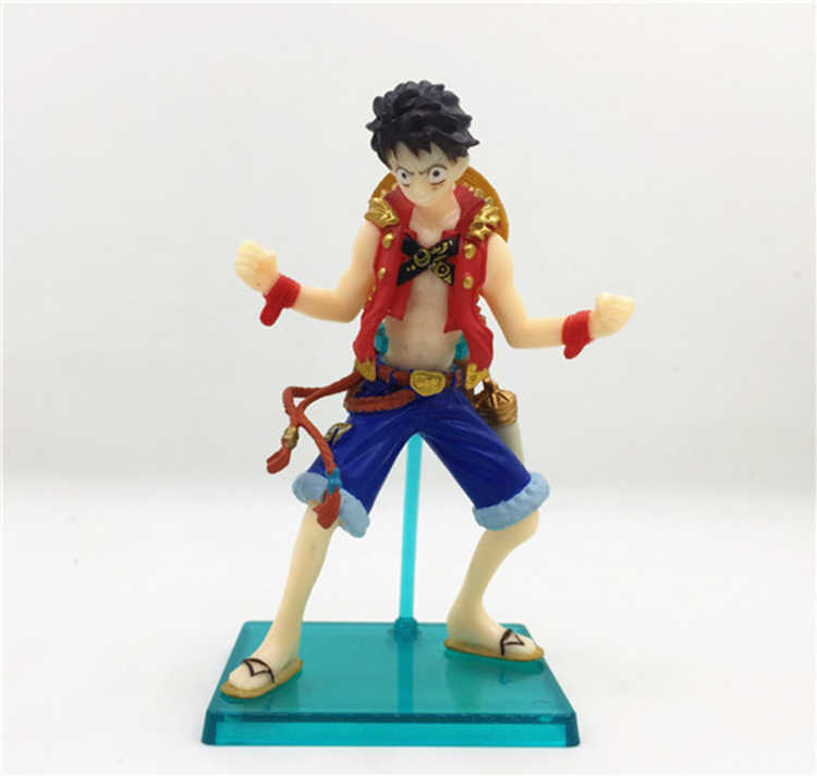 Hot Toys 6pcs/lot 5-12CM PVC Japanese Anime Figure One Piece Q version Action Figure Collectible Model Toys Brinquedos with Box