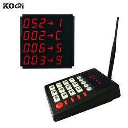 KOQI Queue Call System Wireless Calling System Counter Keypad  LCD Display for Queuing System