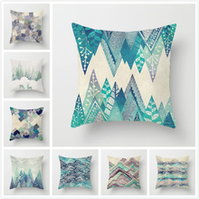 Fuwatacchi Mountain Geometric Pillow Cover Ink style Painting Cushion Covers Home Sofa Chair Bed Car Decorative Pillowcases 2019