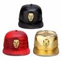 New America Drama V For Vendetta Logo Baseball Hat Pattern PU Leather Casual Unisex  Hip Hop Street Hats Sports DJ Snapback Cap