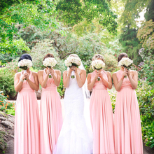 Blush Pink Bridesmaid Dress Multiway Long Dress