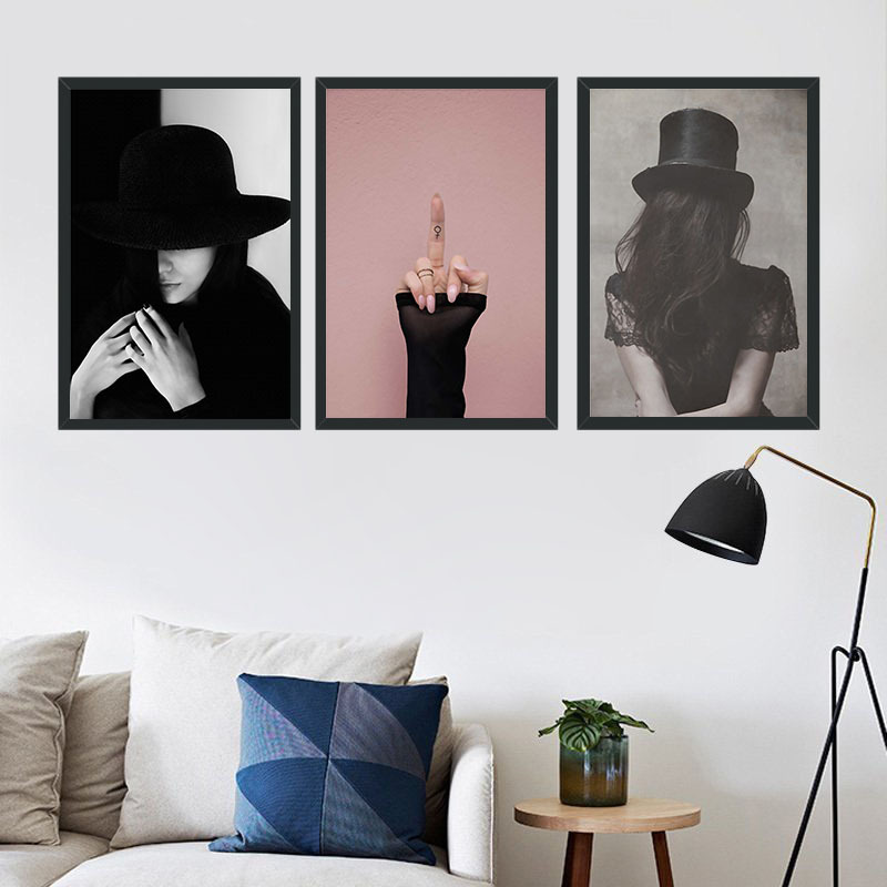 Modern Woman Decoration Wall Art Canvas Print Poster Painting ...