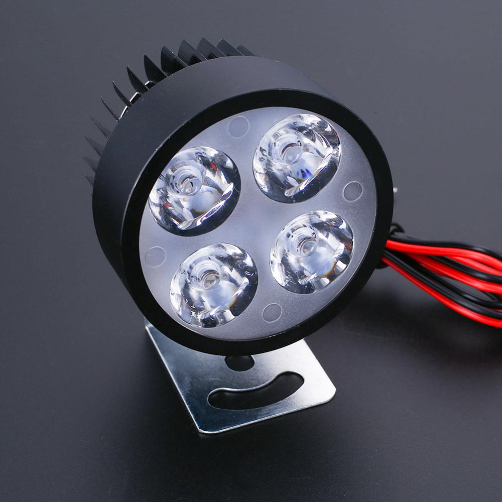 Vehemo фары мотоцикла фар e-велосипед 12 V-90 V светодиодный мото фар фары пятно света Водонепроницаемый IP44 светодиодная лампочка свет - Цвет: black