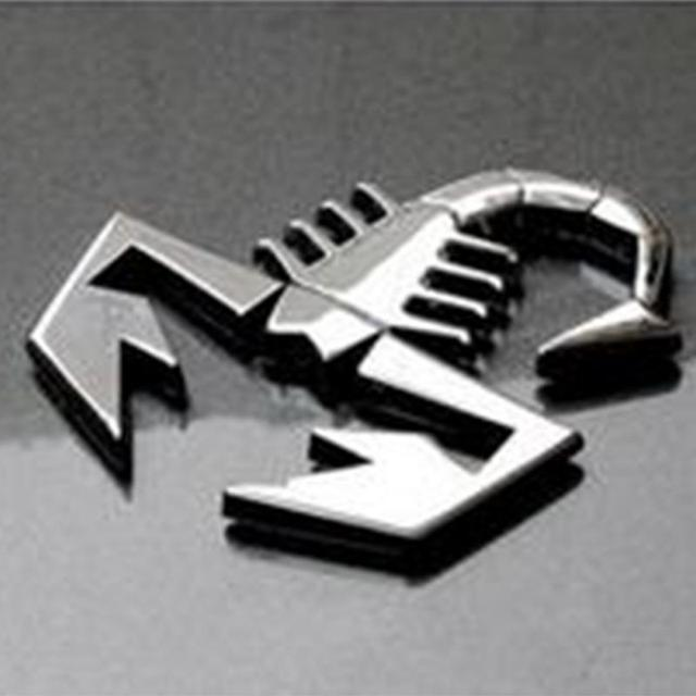 New 3d scorpion car metal adhesive badge emblem decal sticker for fiat 500 punto bravo stilo