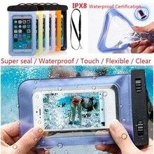 100% selado à prova d' água saco caso bolsa de telefone casos para iphone 6/6 plus/5S samsung galaxy s6/s5/s4/samsung note a maioria dos telefones(China (Mainland))